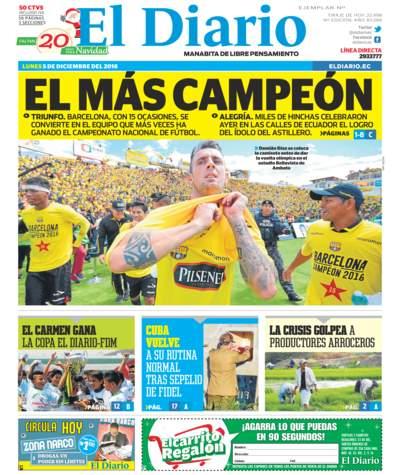 Impreso Lunes 05 Diciembre 2016