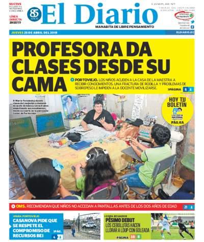 Impreso Jueves 25 Abril 2019