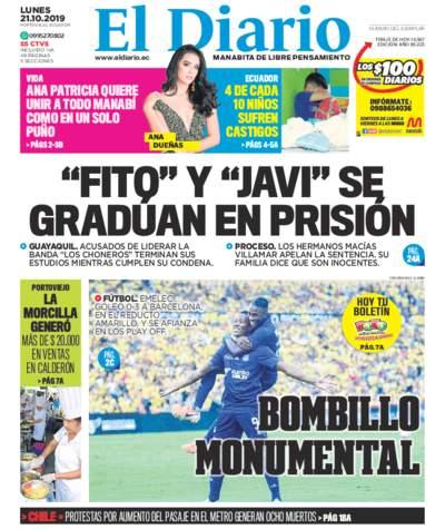 Impreso Lunes 21 Octubre 2019