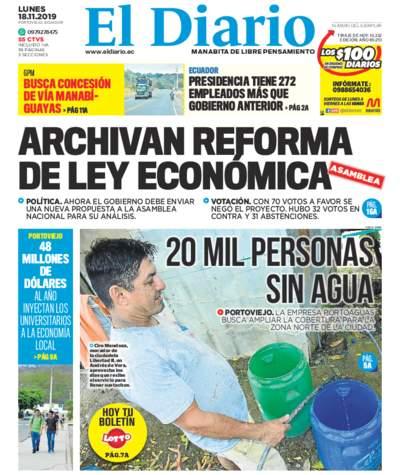 Impreso Lunes 18 Noviembre 2019